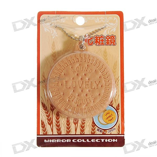Cookies Shaped Mirror Keychain