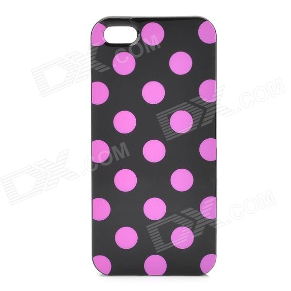 Polka Dot Pattern Protective TPU Back Case for Iphone 5 - Black + Pink new original 515 356 s4 c warranty for two year