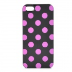 Polka Dot Pattern Protective TPU Back Case for Iphone 5 - Black + Pink