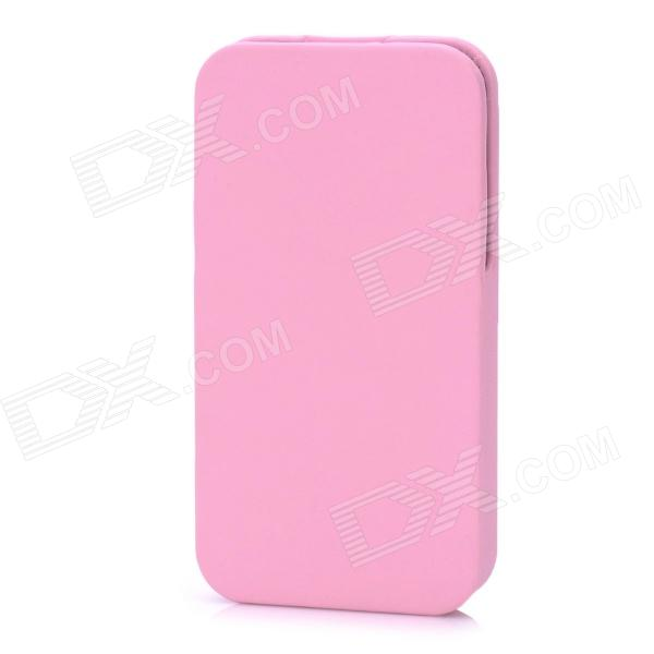 Protective Flip-Open PU Leather Case for Iphone 4 / 4S - Pink protective pu leather flip open case for iphone 4 4s black
