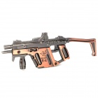 Assembly Alloy Gun Model Razer Assault Rifle Keychain - Red Bronze + Gray