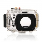Meikon-25 Waterproof PC Camera Housing Case for Nikon V1 w/ 10~30mm Lens - Transparent + Blue