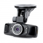 1.5'' TFT 5.0MP CMOS HD 1080P Wide Angle Digital Car DVR w/ 4-IR Night Vision / TF - Black