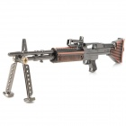Assembly Alloy Gun Model M60 Machine Gun Keychain - Red Bronze + Gray