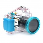 Meikon-14 Waterproof PC Camera Housing Case for Sony NEX5 w/ 18~55mm Lens - Transparent + Blue