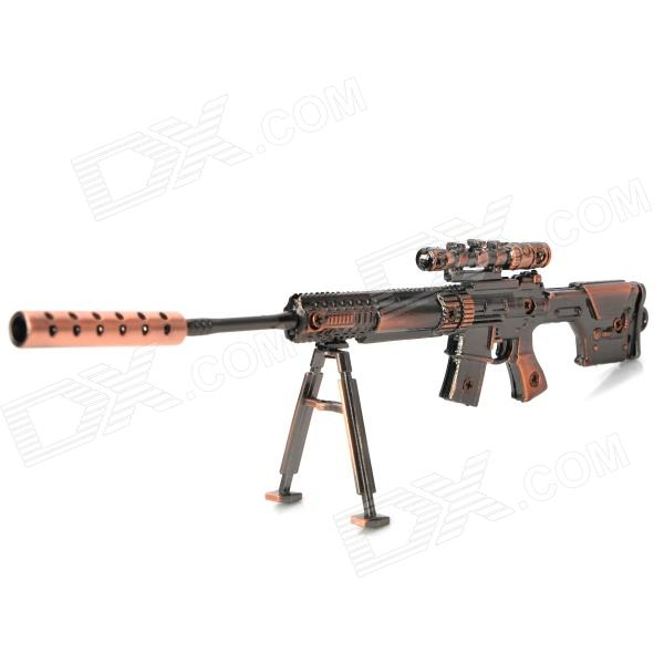 Assembly Alloy Gun Model PSG Sniper Rifle Keychain - Red Bronze + Gray 1 35 assembly model e 100 frederick scher type containing metal gun turret