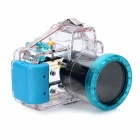 Meikon-18 Waterproof PC Camera Housing Case for Sony NEX-5N (18~55mm Lens) - Transparent + Blue