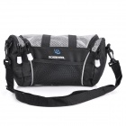 ROSWHEEL 11494 Polyester Bicycle Handlebar Bag - Grey + Black