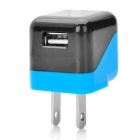 USB-US-Stecker-Ladeadapter für iPhone 4 / iPad / New Ipad / Iphone 3g - Schwarz + Blau (110 ~ 220V)