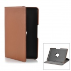 360 Degree Rotation Protective PU Leather Case w/ Holder for Samsung Galaxy Tab P5100 - Brown