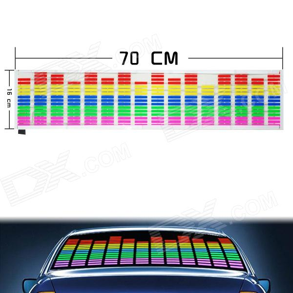 Car Sound Control Sensor Music Rhythm LED Colorful Light Lamp (70 x 16cm) f80 3 0 display screen car automobile thermometer black 2 x ag13