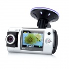 2.0'' TFT 5.0MP CMOS Wide Angle Digital Car DVR Camcorder - Silver