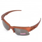 Fashion 3D Sports Resin Lens UV400 Protection Sunglasses - Light Brown + Tawny