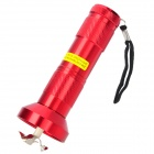 Flashlight Shaped Electric Herb Tobacco Cigarette Grinder - Red (3 x AAA)