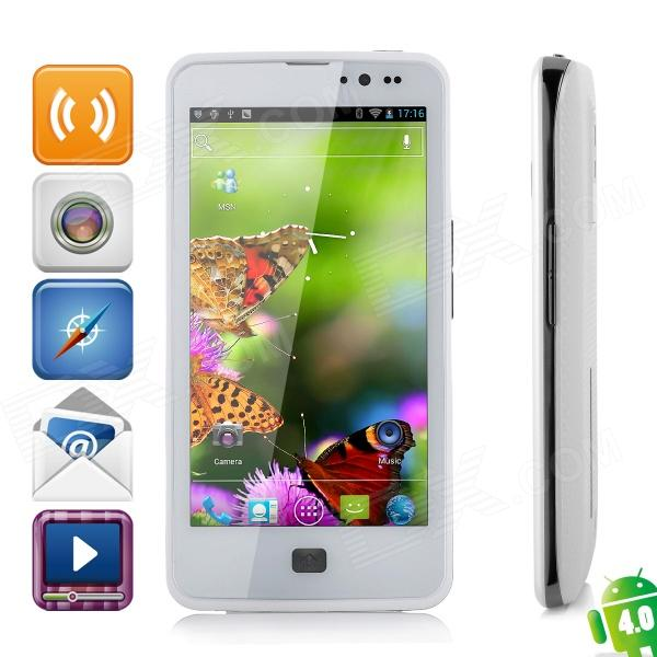 "ZOPO ZP300 android 4.0 WCDMA smartphone w / 4.5"" écran capacitif, wi-fi, GPS et double-sim - blanc"