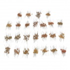 DIY 1/4W Resistance Carbon Film Resistors - Yellow + Silver (500 PCS)