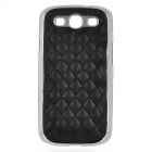 Protective ABS Back Case w/ PU Leather Cover for Samsung Galaxy S III / i9300 - Black