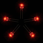 F5 5mm LED Red Light Emitters Set - White (5 PCS)