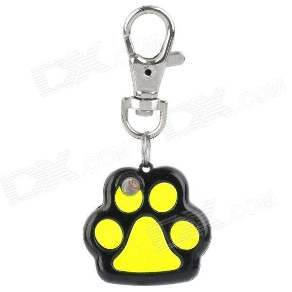 Pet Dog Safety Flash Blinker Reflective Collar Tag - Black