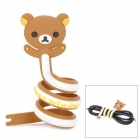 Cute Cartoon Bear Style Cable Wire Wrapper Organizer - Brown