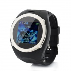"QQ999 GSM 1.5"" Resistive Screen Rubber Wristband Watch Phone w/ Quad-Band / Bluetooth - Black"
