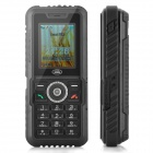 S3 Ultra-Rugged GSM IP67 Cell Phone w/ 1.8&quot; LCD, Dual-Band and FM - Black (Built-in 2GB)