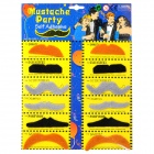 Stylish Costume Fake Mustaches Set - Black + Coffee + Grey (2 x 6 PCS)