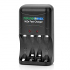 PowerGenix 4 x AA / 2 x AAA NiZn Batteries Charger - Black (AC 100~240V / 2-Flat-Pin Plug)