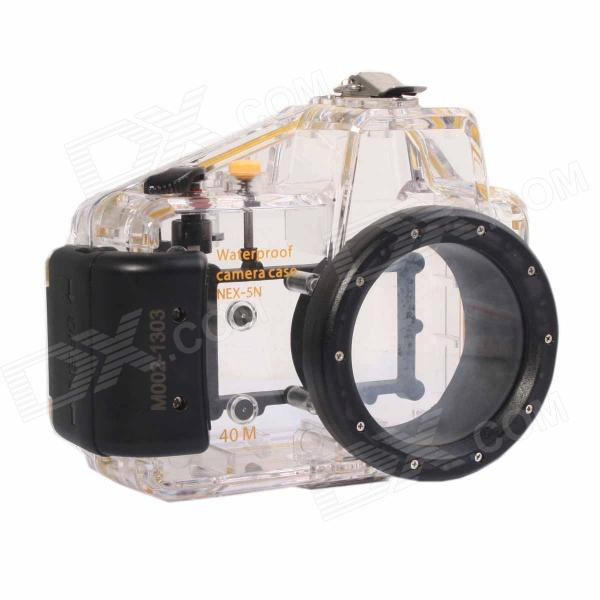 Meikon-19 Waterproof PC Camera Housing Case for Sony NEX-5N w/ 16mm Lens - Transparent + Blue l22 protective nylon carrying bag for sony nex 7n ne 5n nex f3 black blue