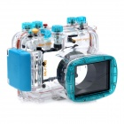 Meikon-21 Underwater Waterproof PC Camera Case Housing Bag for Nikon P7100 DSLR - Transparent + Blue