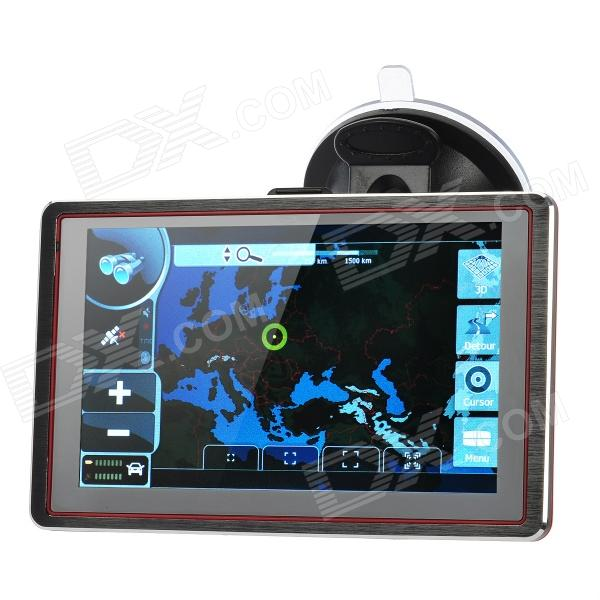 5.0 Touch Screen LCD WinCE 6.0 GPS Navigator w/ FM / TF / 4GB Flash Memory - Europe Map xm 05 7 0 resistive screen win ce 6 0 gps navigator w europe map tf built in 4gb flash memory