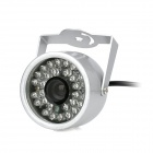 Water Resistant Surveillance Security Camera w/ 30-LED IR Night Vision - Silver (NTSC)