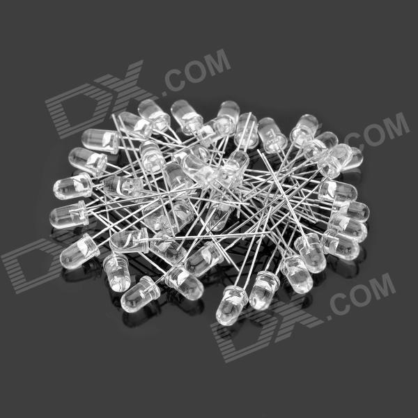 635~650nm 5mm Red Light LEDs - White (30 PCS)