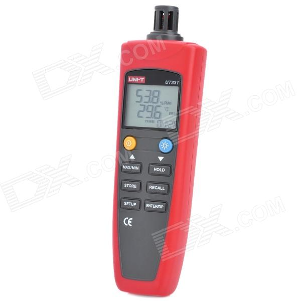 "UNI-T UT331 1.8"" LCD Temperature & Humidity Meter - Red + Grey (4 x AAA)"