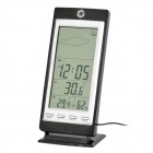 "IT-501 5.1"" LCD Digital Weather Forecast Indoor / Outdoor Thermometer - Black (3 x AAA)"
