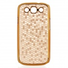 Protective Football Pattern Plastic Back Case for Samsung i9300 - Yellow + Golden
