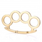 Multifunction Brass Knuckles Pattern Aluminum Alloy Sponge Carabineer Clip - Golden