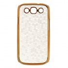 Protective Football Pattern Plastic Back Case for Samsung i9300 - Silver + Golden