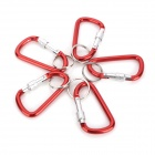 Outdoor Sports Sperren Karabinerhaken Set w / Key Ring - Red + Silber (5 PCS)