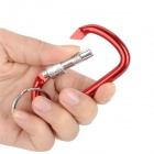 Outdoor Sports Locking Carabineer Hook Set w/ Key Ring - Red + Silver (5 PCS)