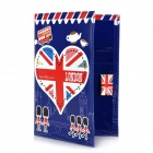 Ich liebe London Pattern PU Leder Passport Holder - Red + Weiß + Blau
