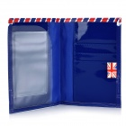 I Love London Pattern PU Leather Passport Holder - Red + White + Blue