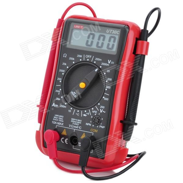 UNI-T UT30C 2.0 LCD Multipurpose Digital Multimeter - Red + Grey (1 x 9V Battery) pro skit mt 1210 2 0 lcd digital multimeter blue deep grey 1 x 9v battery