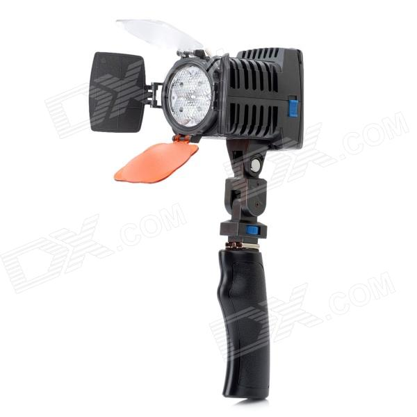 VL005 12W 4-LED 1450lm Dimming Video Light - Black