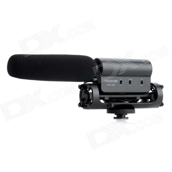 TAKSTAR SGC-598 Professional Stereo Microphone for DV / DSLR Camera - Black (1 x AA) professional directional stereo microphone 1 x cr2