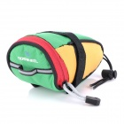 Roswheel 13567-A Cycling Bicycle Fashion Saddle Seat Tail Bag - Green + Yellow + Red