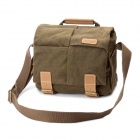 Caden Protective Canvas One-Shoulder Bag for DSLR Camera - Coffee