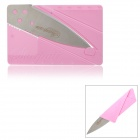 Cool Folding Credit Card Style Safety Knife - Pink + Silver