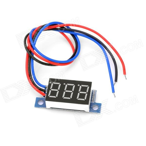 0~99.9V Electric Motorized Car Voltage Display Board - Black