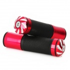 Motorcycle / Electric Bicycle Non-Slip Aluminum Alloy Handlebar Covers - Red + Black (2 PCS)